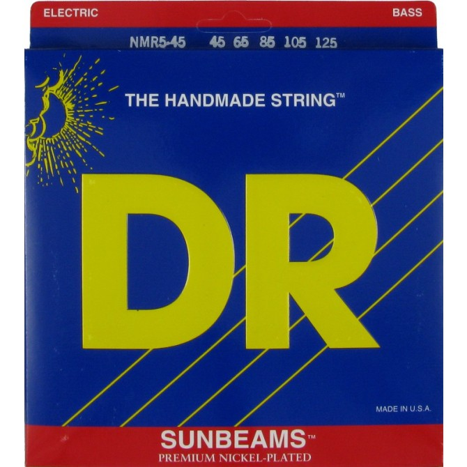 DR NMR5-45 Sunbeam 5 String Medium (45 - 65 - 85 - 105 - 125) Long Scale