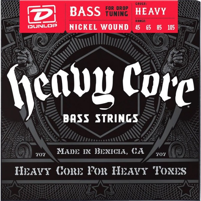 Dunlop Heavy Core NPS 4 String Heavy (45 - 65 - 85 - 105)