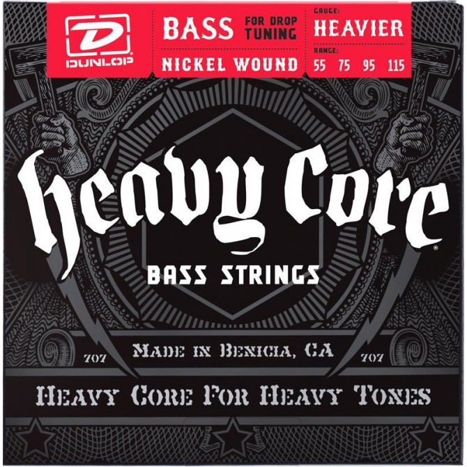 Dunlop Heavy Core NPS 4 String Heavier (55 - 75 - 95 - 115) Long Scale