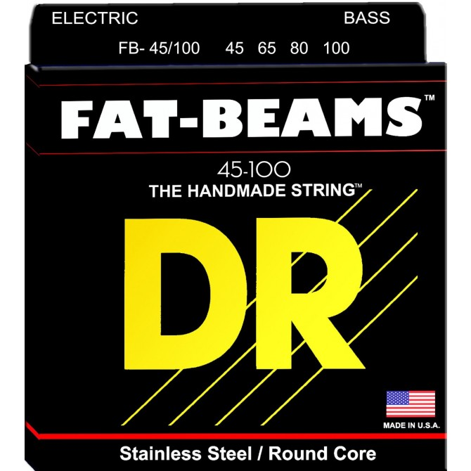 DR Strings 4 String Fat Beams FB-45/100 Medium-Lite