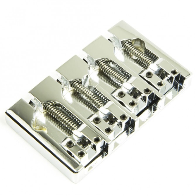 Hipshot AStyle 4String FenderMount1 .750 Bass Bridge Brass Chrome 19mm Spacing