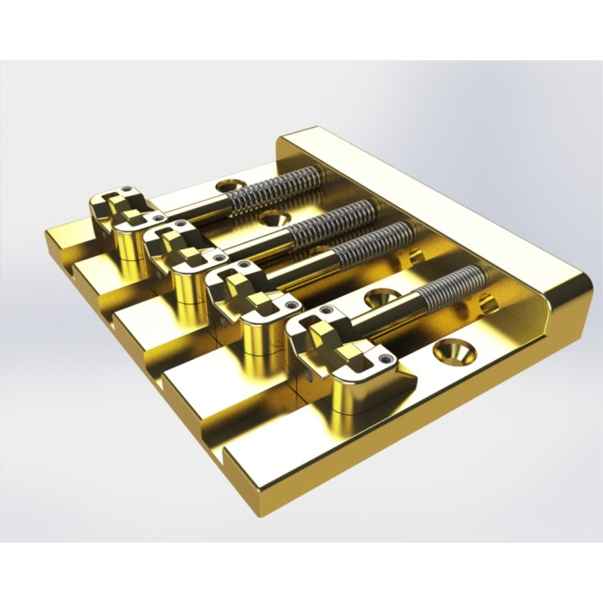 Hipshot KickAss 4 String Bass Bridge (Gold)