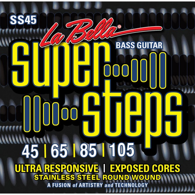 Labella SS45 Super Steps 4 String Standard (45 - 65 - 85 - 105) Long Scale