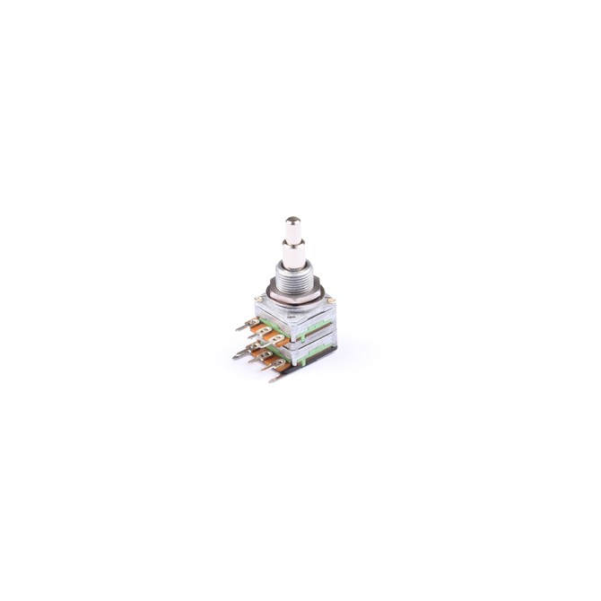 NOLL 250k Volume/Tone Potentiometer Linear/Audio Taper Stacked 4/6mm Solid Shaft