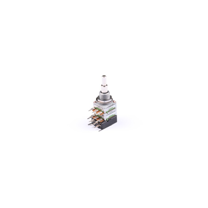 NOLL 250k Tone/Tone Potentiometer Audio Taper Stacked Push/Pull 4/6mm Solid Shaft