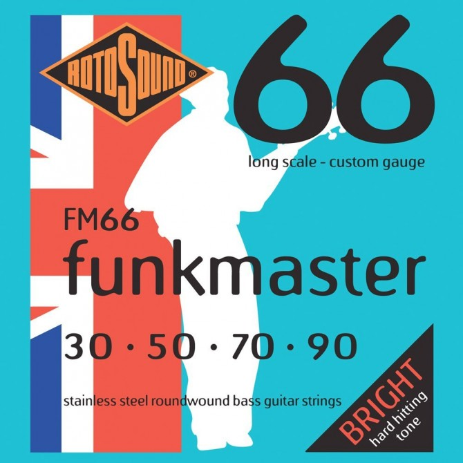 Rotosound FM66 Funkmaster 4 String Extra Light (30 - 50 - 70 - 90) Long Scale