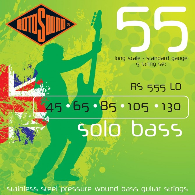 RotoSound RS555LD Solo Bass 55 5 String Standard (45 - 65 - 85 - 105 - 130) Long Scale