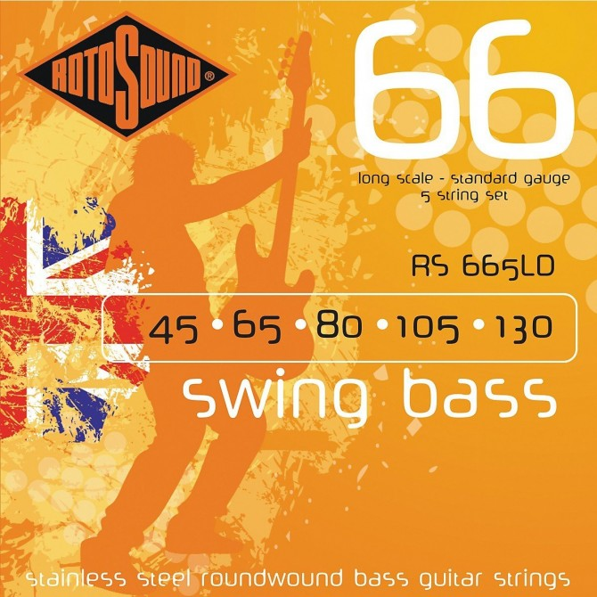Rotosound RS665LD Swing Bass 66 Stainless 5 String Standard (45 - 65 - 80 - 105 - 130) Long Scale