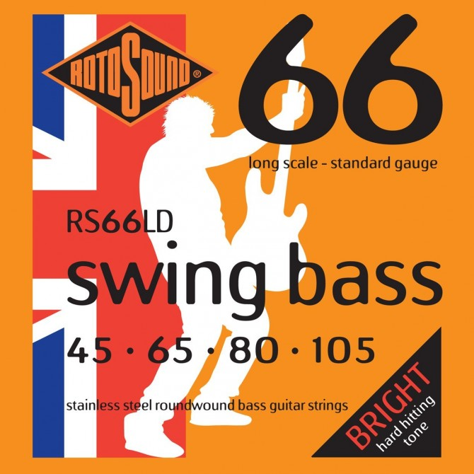 Rotosound RS66LD Swing Bass 66 Stainless 4 String Standard (45 - 65 - 80 - 105) Long Scale