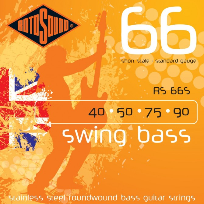 Rotosound RS66S Swing Bass 66 Stainless 4 String Light (40 - 50 - 75 - 90) Short Scale