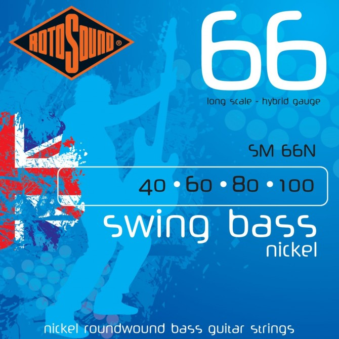RotoSound SM66N Swing Bass 66 Nickel 4 String Hybrid (40 - 60 - 80 - 100) Long Scale