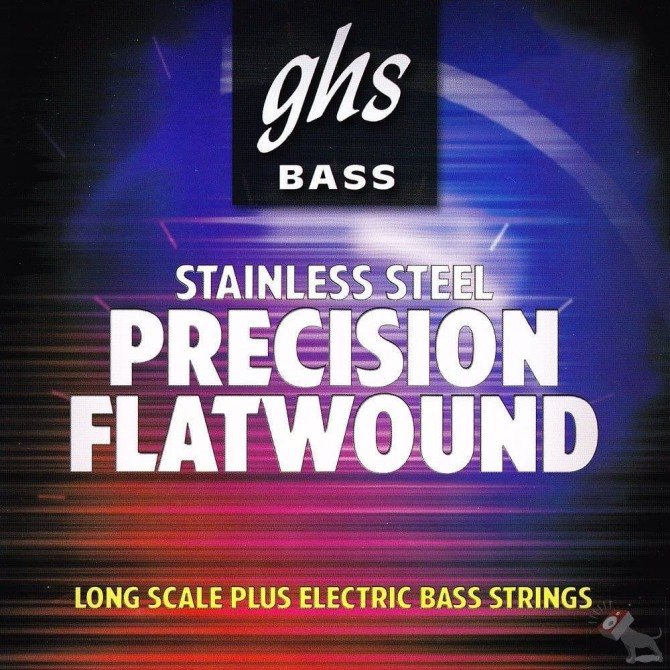 GHS M3050-5 Stainless Steel Precision Flats 5 String Medium (45 - 65 - 85 - 105 - 126) Long Scale