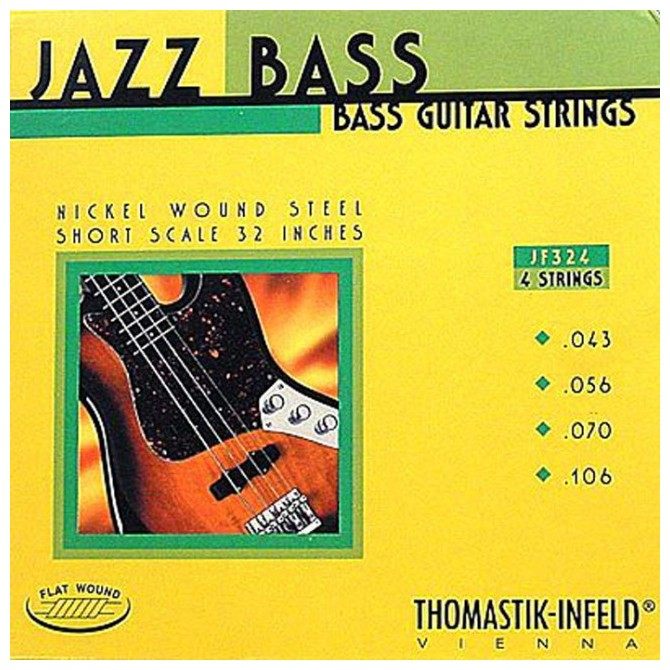Thomastik-Infeld Hofner JF324, 4 String, Jazz Bass, Flat Wound  (43, 56, 70, 96)