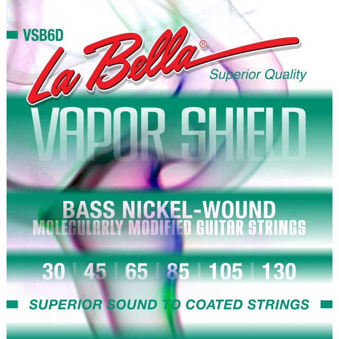 Labella VSB6D Vapor Shield 6 String Medium (30 - 45 - 65 - 85 - 105 - 130) Long Scale