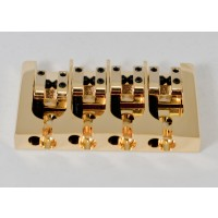 Hipshot AStyle 4String .687 Bass Bridge Brass Gold 17.5mm Spacing