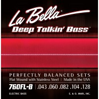 Labella 760FL-B-M Deep Talkin' Bass Flatwound 5 String Light (43 - 60 - 82 - 104 - 128) Medium Scale