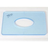 """Delano 1/4"""" Thick Acrylic Xtender D Size Template"""