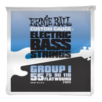 Ernie Ball Flatwound Group I Electric Bass Strings - 55-110 Gauge