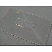 "Nordstrand 3/16"" Thick Acrylic 9v Battery Box Template"