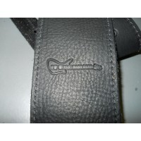 BBG Branded Leather Bass Guitar Strap