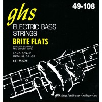 GHS M3075 Bass Brite Flats 4 String Medium (49 - 62 - 84 - 108) Long Scale