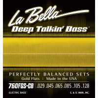 Labella 760FGS-CB Deep Talkin' Bass Gold Flats 6-String Standard (029 - 45 - 65 - 85 - 105 - 128)