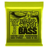Ernie Ball Regular Super Slinky Nickel Wound Electric Bass Strings - 50-105 Gauge