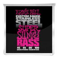 Ernie Ball Super Slinky Stainless Steel Electric Bass Strings - 45-100 Gauge