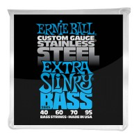 Ernie Ball Extra Slinky Stainless Steel Electric Bass Strings - 40-95 Gauge