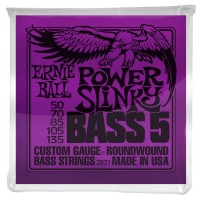 Ernie Ball 5-String Power Slinky Nickel Wound Electric Bass Strings - 50-135 Gauge