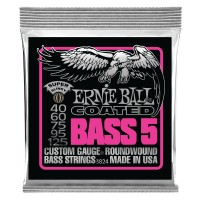 Ernie Ball Bass 5 Slinky Coated Electric Bass Strings - 45-130 Gauge