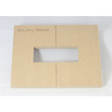 "Mike Plyler 1/2"" Thick MDF M4(EMG 40) Size Template"