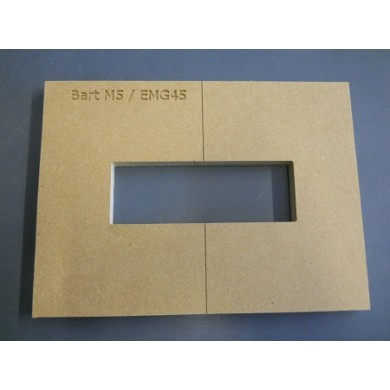 "Mike Plyler 1/2"" Thick MDF M5(EMG 45) Size Template"