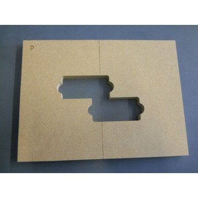 "Mike Plyler 1/2"" Thick MDF Precision Size Template"
